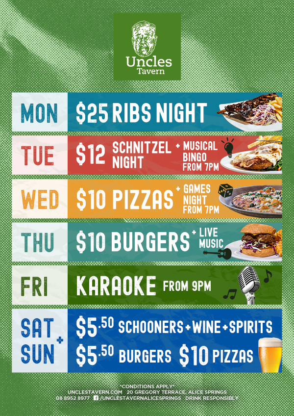 UNC Weekly Whats On - Uncles Tavern