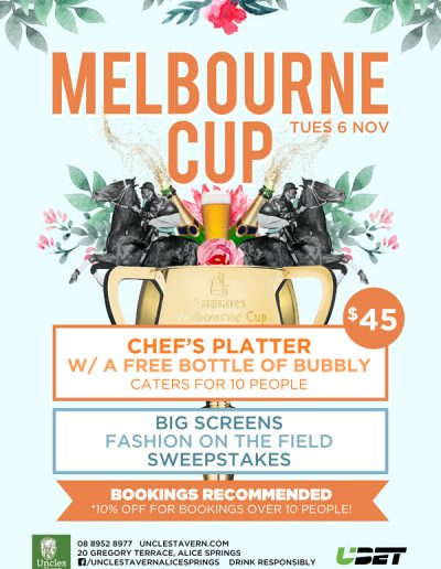 UNCS Melbourne Cup 1 400x516 - Uncles Tavern